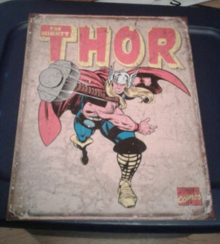 Thor Novelty TIN SIGN Metal Vintage Marvel Comics Wall Poster Decor