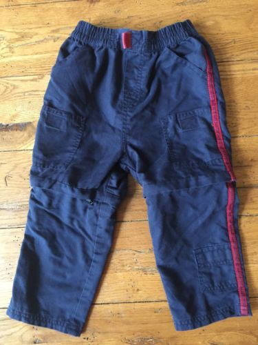 Baby Boy 24M Navy Long Pants with Zipper at knee to convert to shorts
