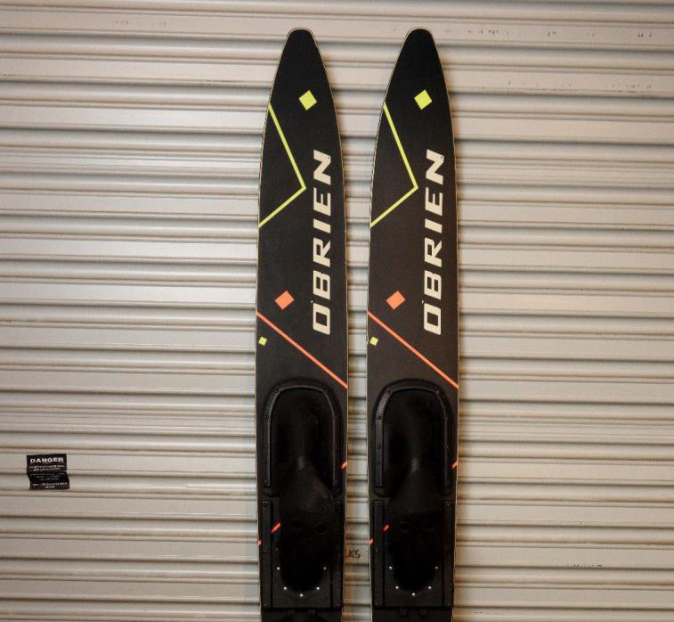 OBrien Freestyle Combo Water Skis Vintage 90s Black and Neon 170cm 67 inch