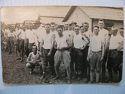RPPC WWI Tough Looking U.S. Soldiers, Army, Military Real Photo Post Card, War