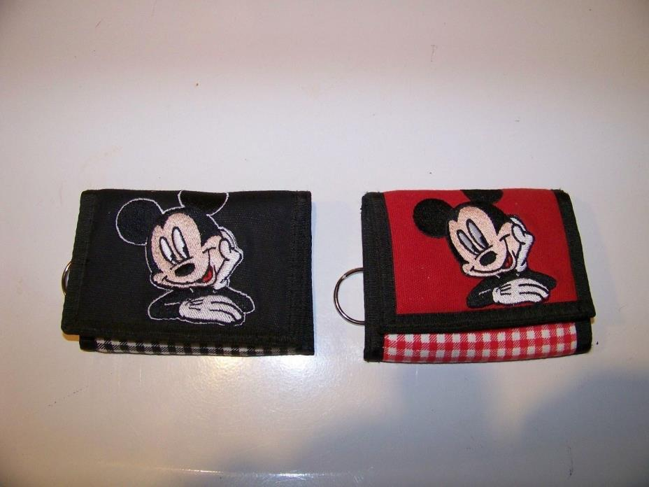 Mickey Mouse Wallet (2) NEW Black & Red RARE Disney Mickey Unlimited  2 Wallets