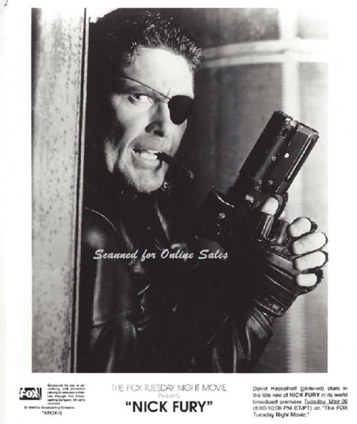 Nick Fury David Hasselhoff With Cigar Armed 8x10 Photo