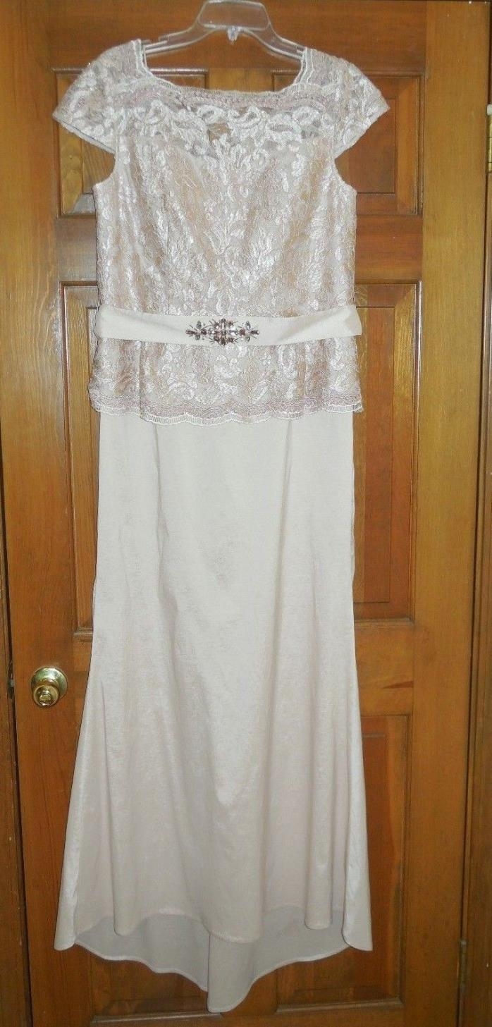 Long Mother of Bride Dress with Jeweled Belt ~ Size 14 Ignite Evening New York