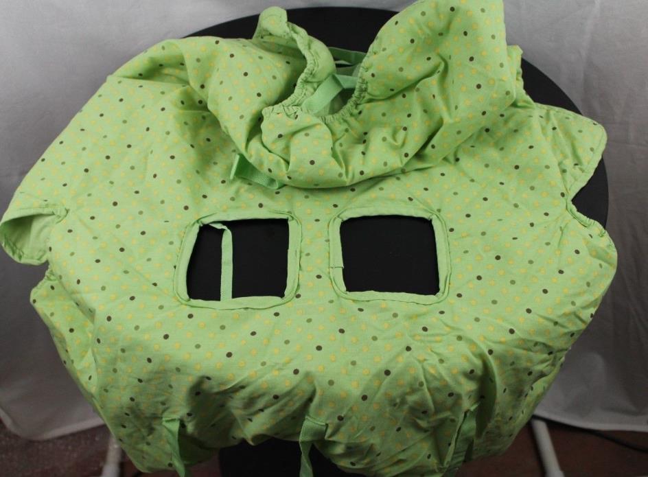 Shopping Cart Cover Green Pin Dot