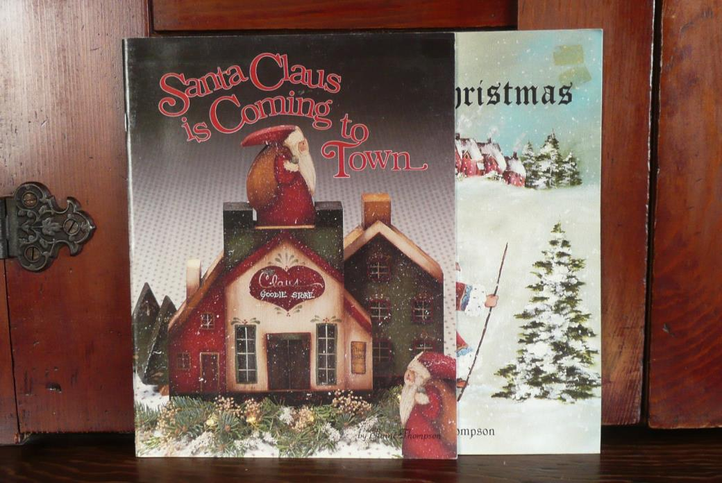 Elaine Thompson Almost Christmas & Santa Claus To Town Decorative Painting Books