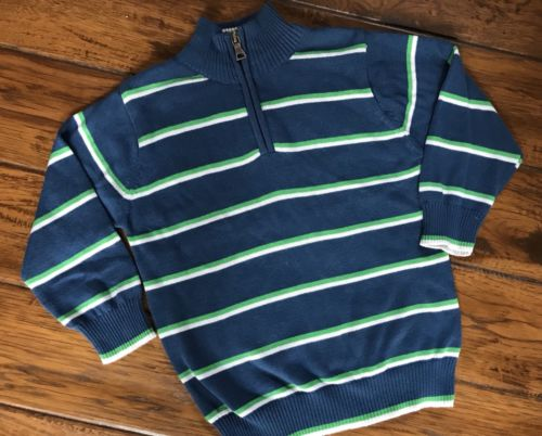Childrens Place Sz 3T Sweater 1/4 Zip Blue Blue Holiday Boys Youth EXCELLENT