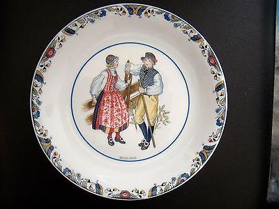 Rorstrand Swedish National Costumes Porcelain Plate Medelpad Sweden - Rare HTF!
