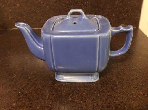 Vintage Square Blue Tea Pot