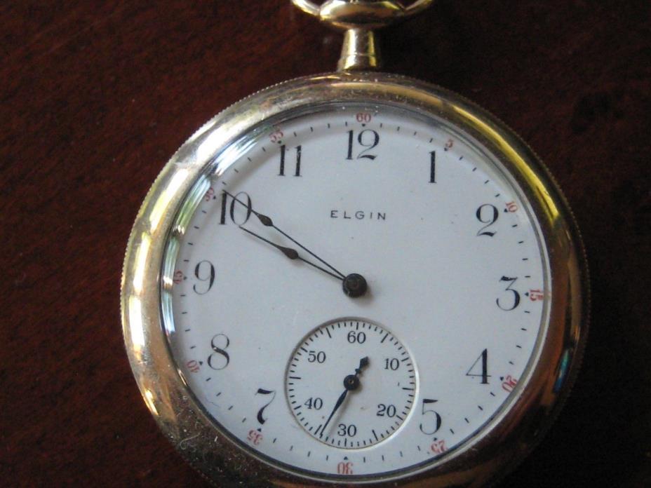 Elgin 17 Jewel 14K Gold Filled Pocket Watch