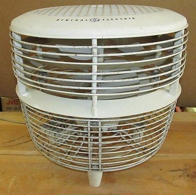 Vintage G.E. GE GENERAL ELECTRIC Floor/Table/Hassock Fan MCM/Atomic J392