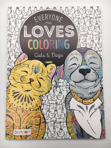 NEW Everyone Loves Coloring Book - Cats & Dogs - 40Pgs, Tear & Share