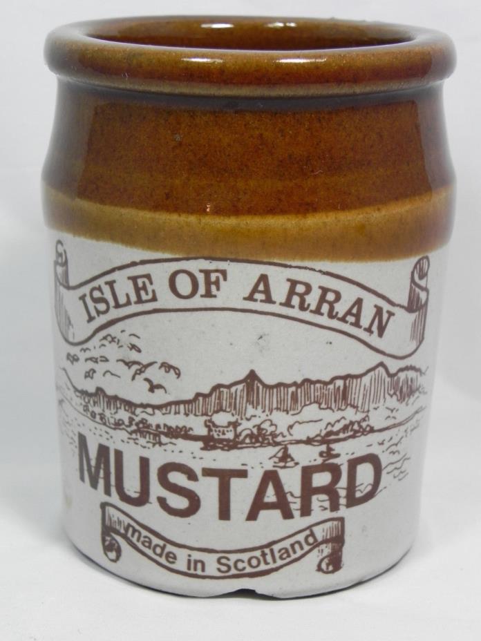 ISLE OF ARRAN Mustard Stoneware Crock, Made in Scotland (Empty, No Lid), Heavy