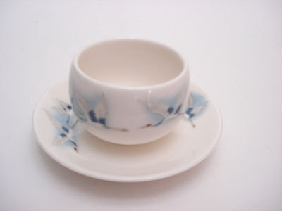 Snow Bone China Teapot, Cups and Saucers