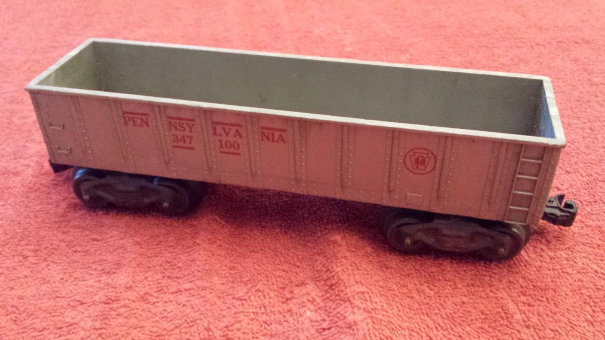 Marx O Train - 8 Wheel Silver PRR Pennsylvania 347100 Gondola w/ Fixed Couplers
