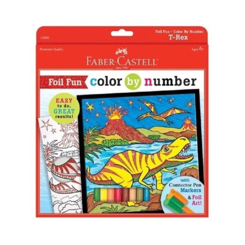 Foil Fun Color by Number T-Rex Dinosaur by Faber-Castell