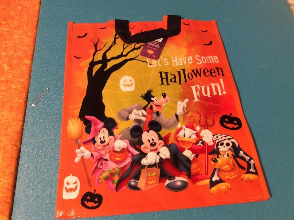 NEW DISNEY 2015 Halloween Bag Trick or Treat Bag Nice Size Reuseable Bag
