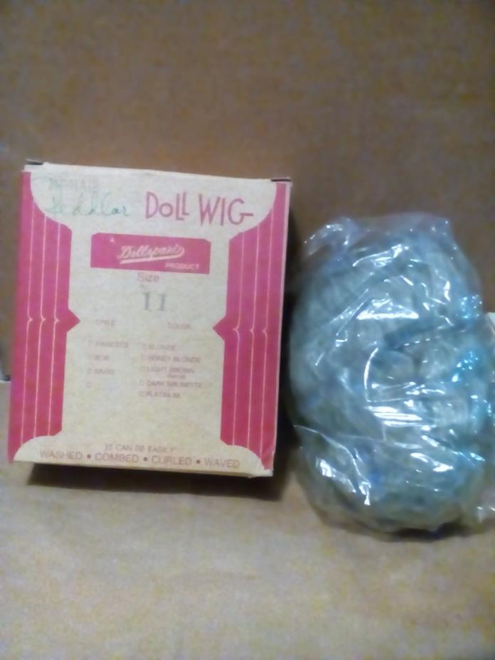 VINTAGE Grey Gray Doll Wig Mohair SZ11 DOLLSPART unused stock Antique style New
