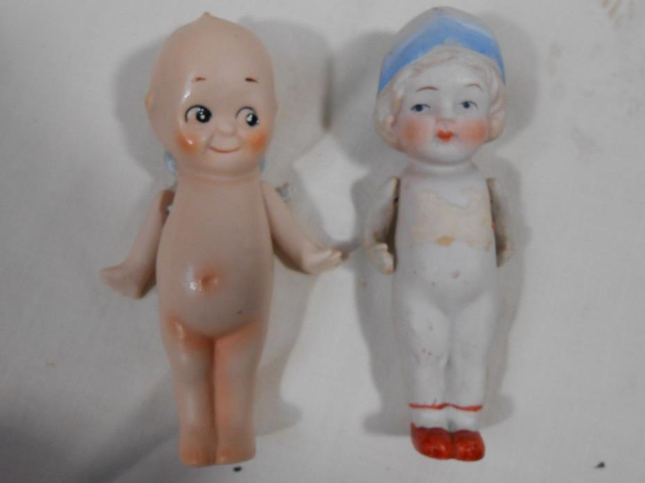 Two Vintage Jointed Kewpie Dolls Nippon Shackman 3 1/2