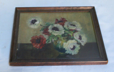 Wooden Framed Vintage Floral Made w/ Plaster underneath 4 Depth Schaffer Browns