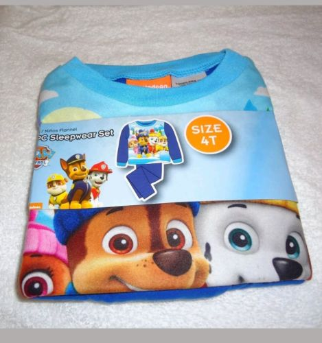 Nickelodeon Paw Patrol Toddler Boy's 2pc Pajama Sleepwear Set Flannel Size 4T