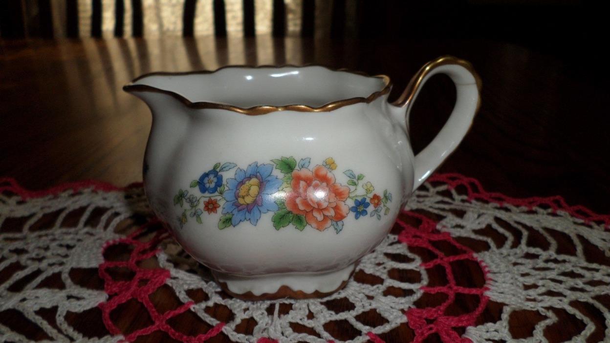 Vintage Fraunfelter China Flower Design Creamer