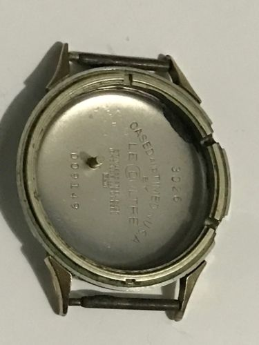 VINTAGE LECOULTRE ALARM SS USED CASE