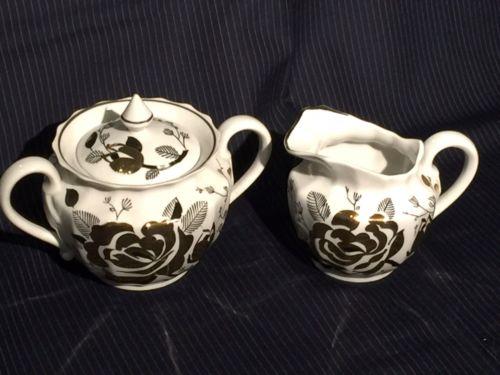Sugar And Creamer Dmitrov Porcelain Vintage Ukranian USSR Era