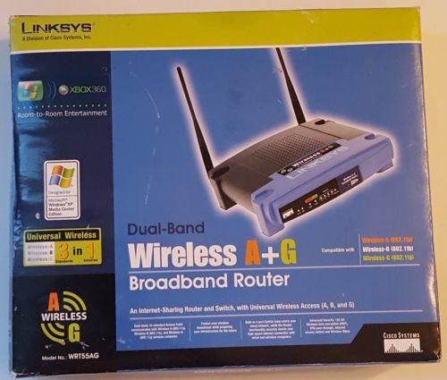 LINKSYS Dual-Band Wireless A+G Broadband Router Model WRT55AG NEW & SEALED