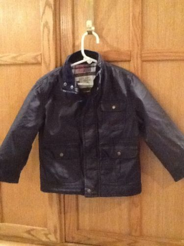 Cherokee Boy's 3T Blue Coat Flannel Lining Cotton Blend Gently Used