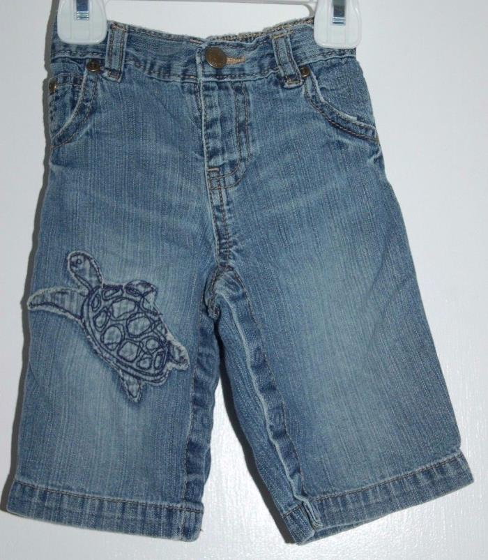 Boys 3-6 Months BabyGap Jeans Turtle Applique Embroidered Baby Gap