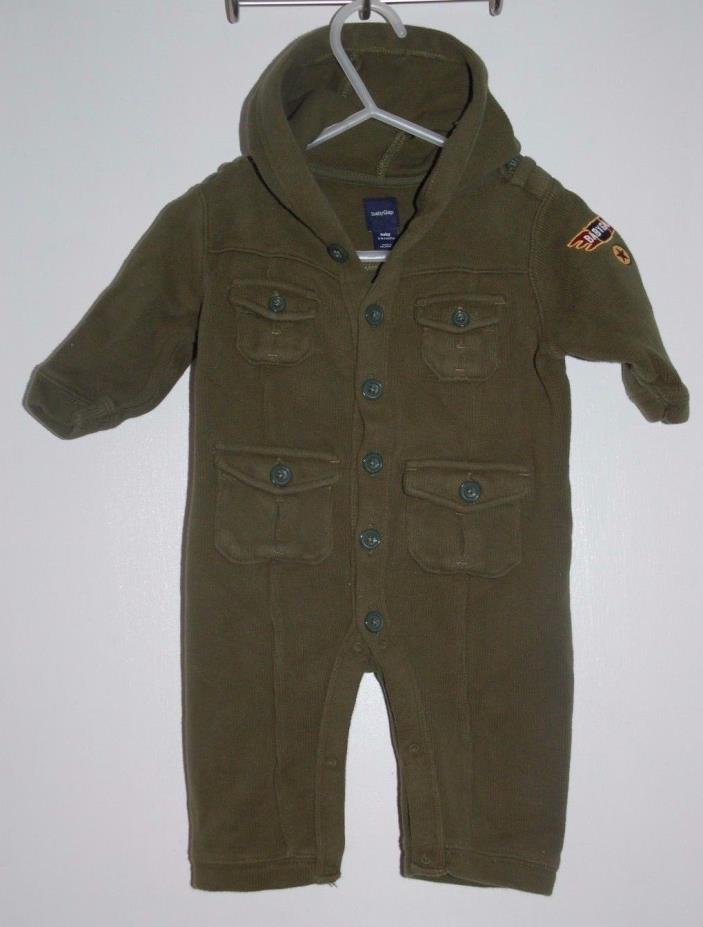 Boys 3-6 Months BabyGap Green Long Sleeve One Piece Jumpsuit Outfit EUC Baby Gap