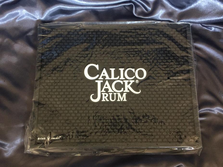 CALICO JACK RUM BAR DRINK SPILL MAT NIB