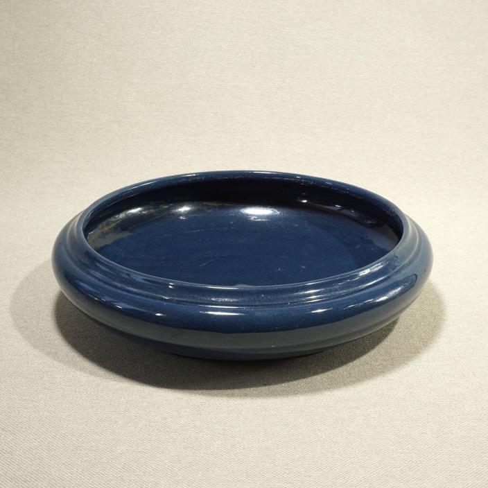 Roseville Rosecraft Bowl Cobalt Blue Glaze Centerpiece Flowers Fruit Signed R