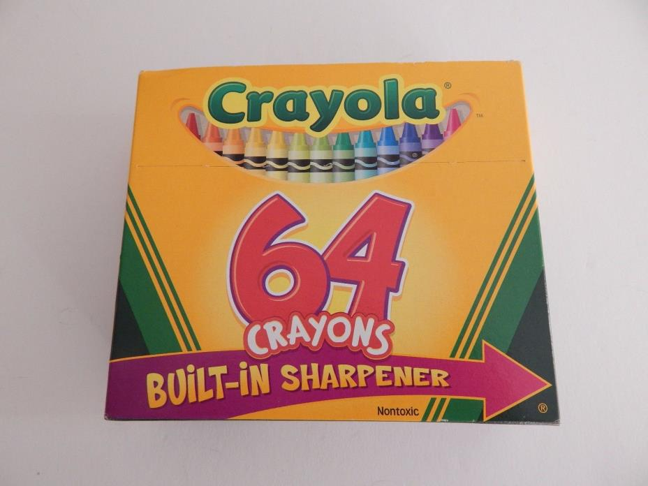 Crayola - 64 Crayons With Built-In Sharpener