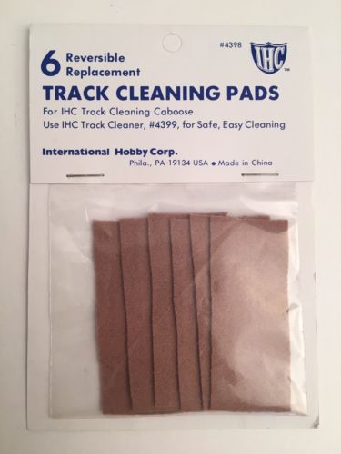 IHC HO 6 Reversible Replacement Pads for Track Cleaning Caboose #4398
