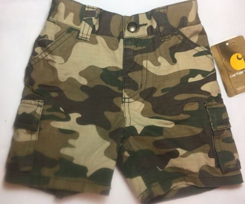 Carhartt Toddler Boys Camouflage Cargo Shorts. Size 18 Months