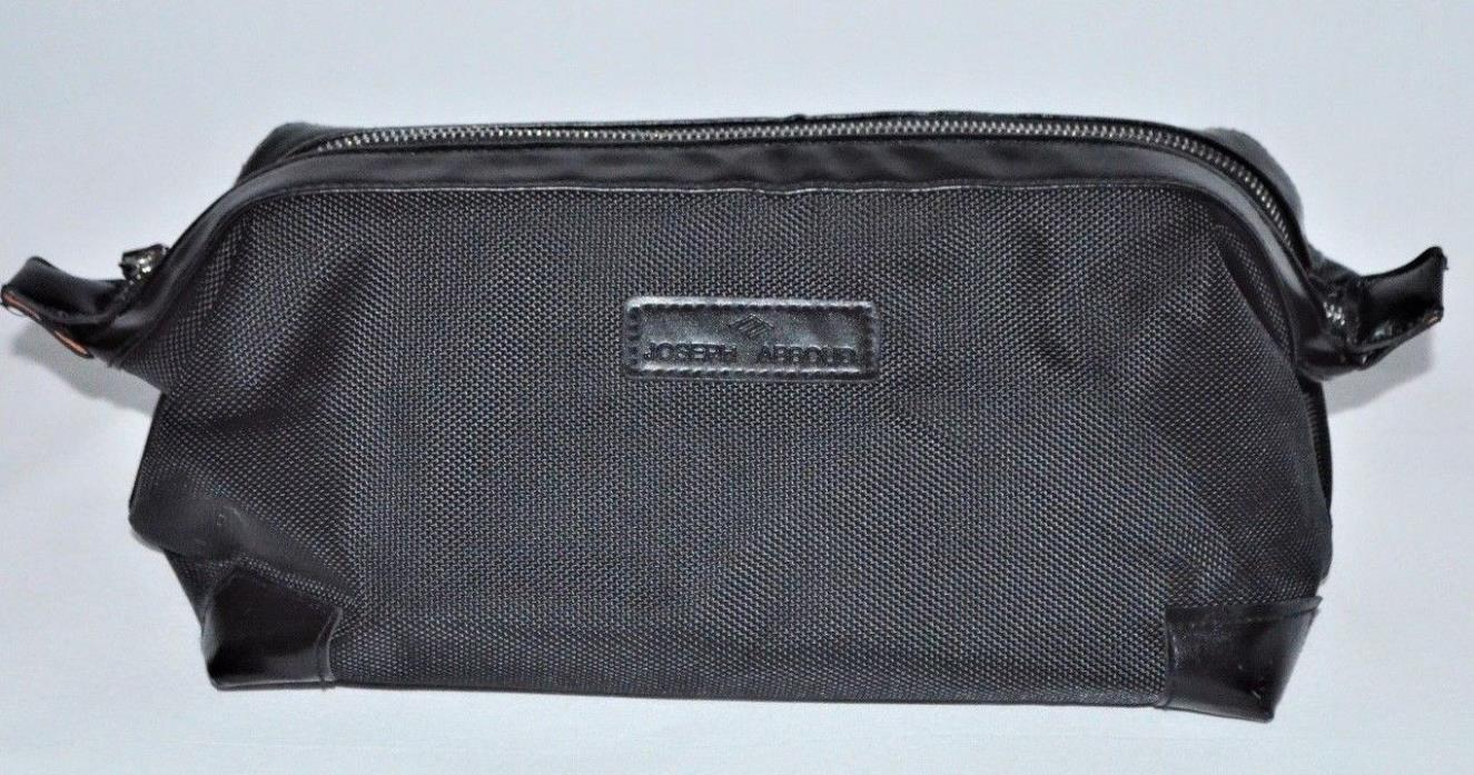 Joseph Abboud Mens Shave Bag Dopp Kit Toiletry Travel Cologne Excellent Black