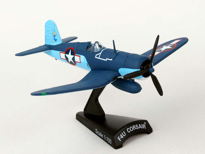 Postage Stamp US Marine Corps F4U Corsair VMF-422 1:100 Scale Model Plane Blue