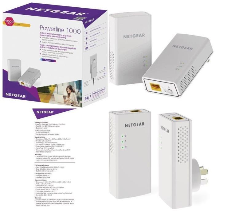 Netgear Powerline 1000 Mbps PL 1000 Ethernet Extender