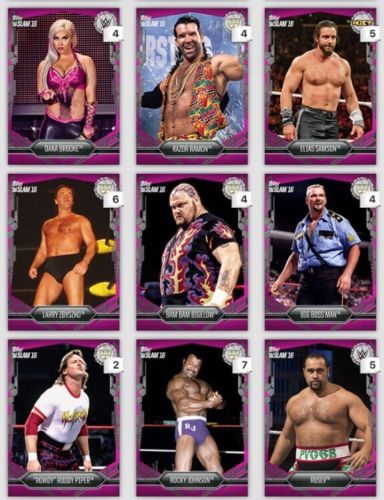 Topps DIGITAL 9 Pink Cards 718-722cc Dana-Rusev WWE Slam Card 2016