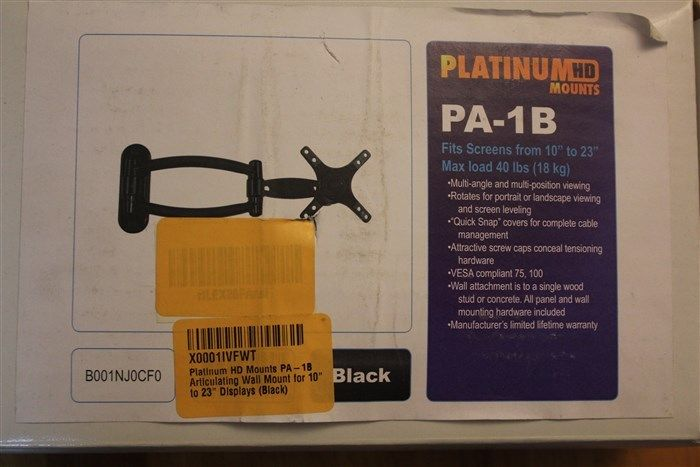 Platinum HD Mounts PA-1B Articulating LCD Wall Mount