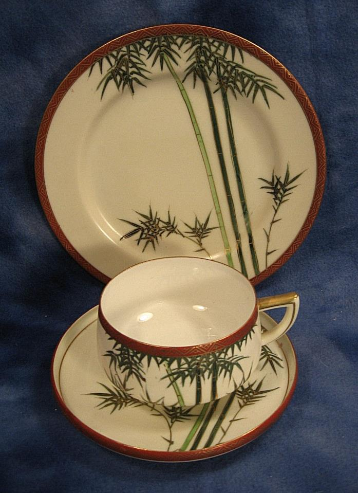 Vintage Tea Cup, Saucer & Snack Plate Set OCCUCPIED JAPAN Hakusan China