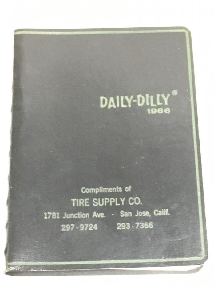 Vintage 1966 Daily Dilly Date Book Dirty Jokes Funny Stories Black Unused FREE