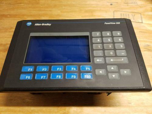 Allen Bradley Panelview 550-Model # 2711-K5A2L1 Ser F