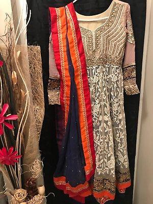 indian pakistani anarkali suit with little defect