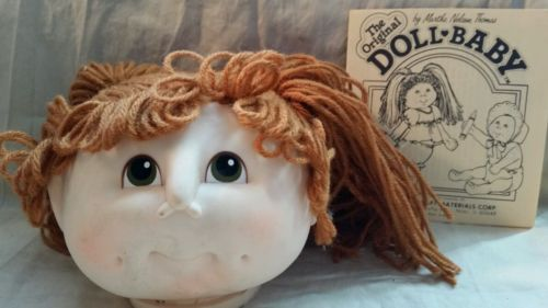 DOLL BABY Doll Head by Martha Nelson Thomas Cabbage Patch Rusty Red Pigtail 3108