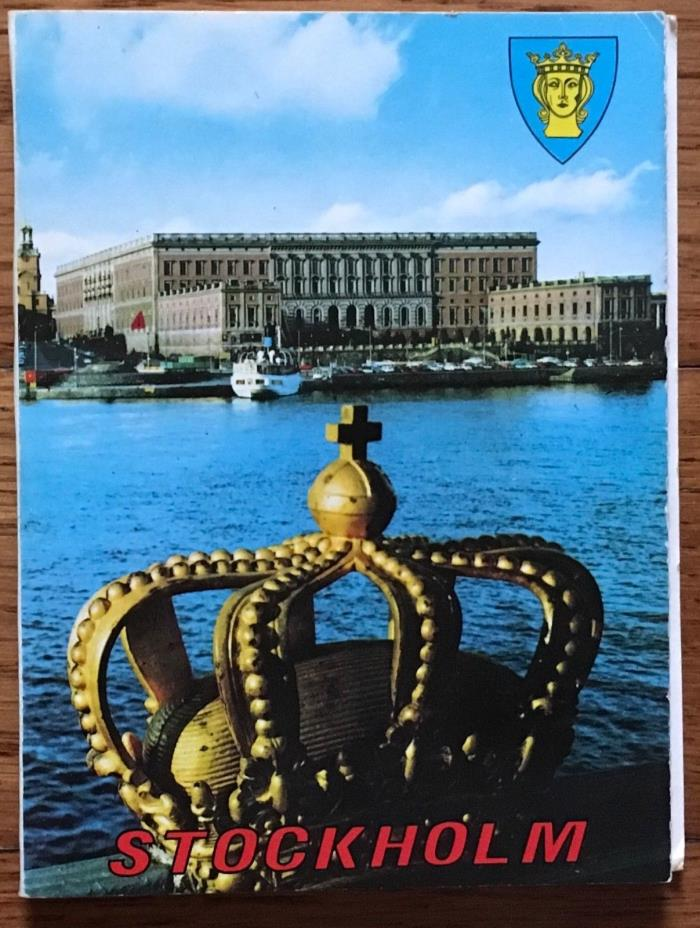 Mini postcard Little Folder 12 Views of Stockholm Sweden