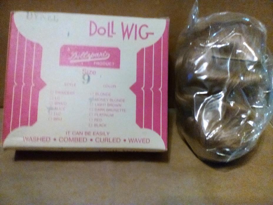 Vintage Dollspart Doll Wig Size 9  Honey Blonde Brand New Dynel