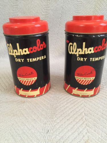 Vintage Alphacolor Tins (2)