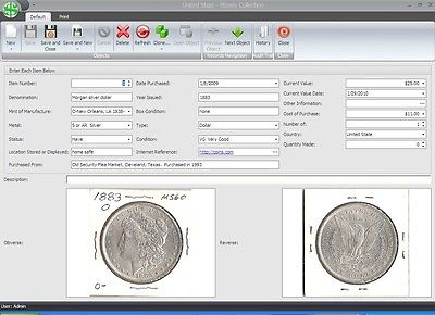 Coin and Currency Collector Pro Software!